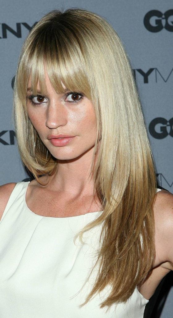 Bangs Platninum Blonde Color