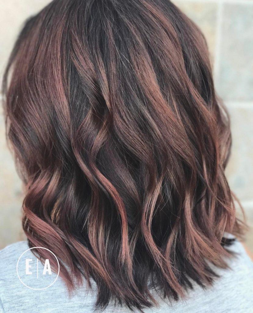 Long Bob Haircutstrends 2020 Balage Dark Brown Wavy Hair 1