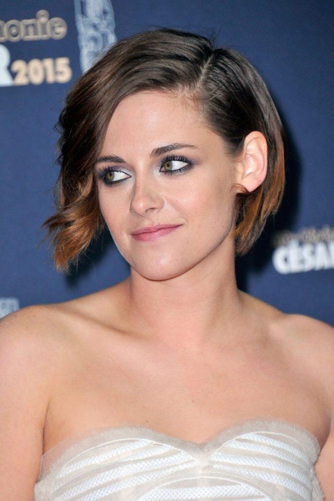 Long Bob Haircutstrends 2020 Kristen Stewart Hollywood Actress Short Brown Hair 2