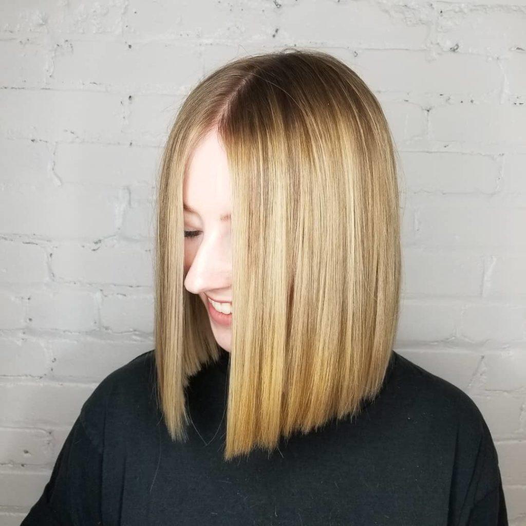 Long Bob Haircutstrends 2020 Straight Blonde Hair 1