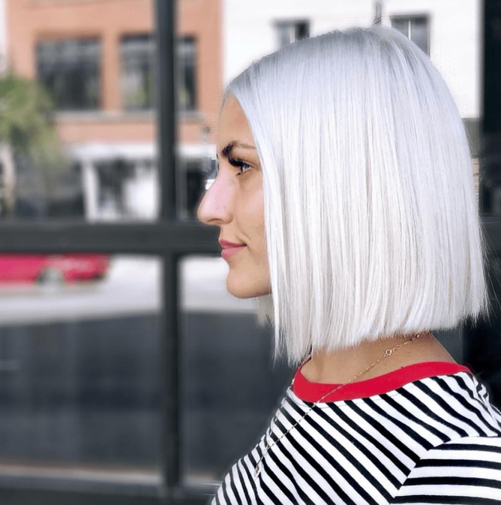 Long Bob Haircutstrends 2020 White Straight Haircut 1