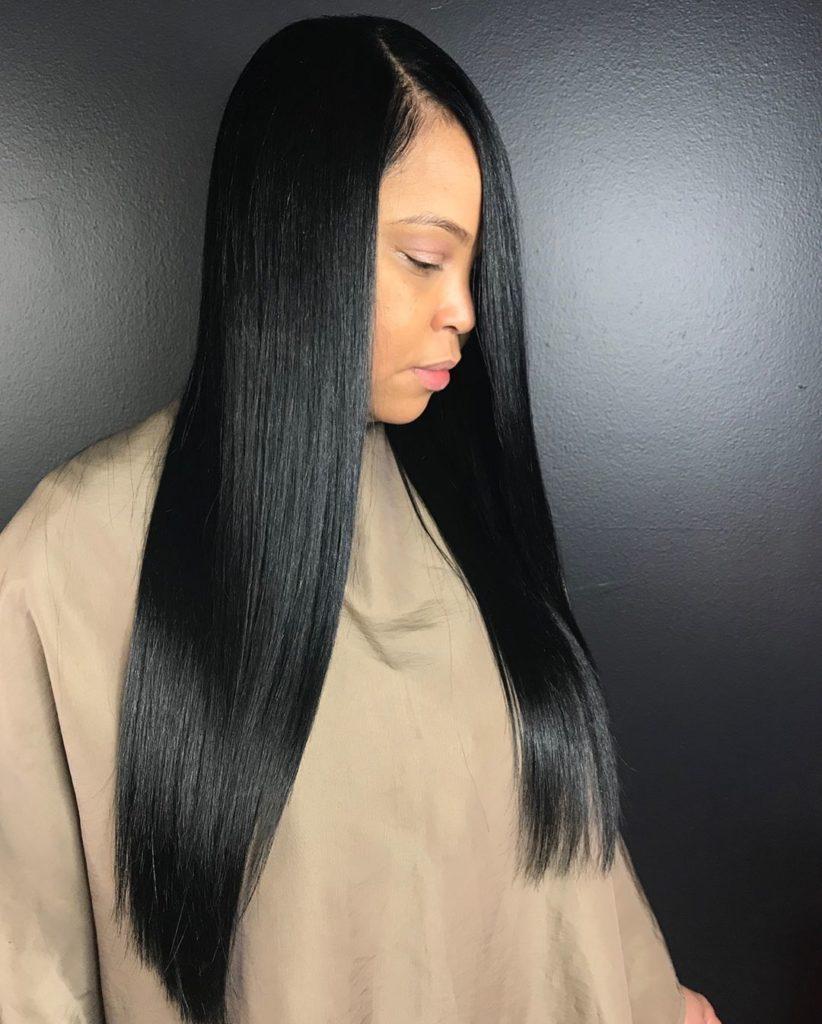 Black Color Straight Hair