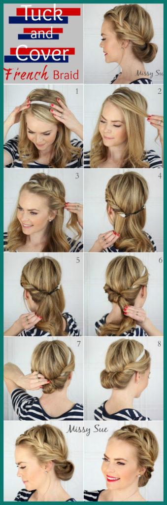 Long braided hairstyles trends 2020 Fishtail Crown Brai tutorail