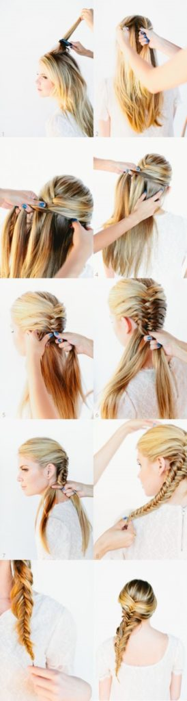Long braided hairstyles trends 2020 Fishtail tutorial