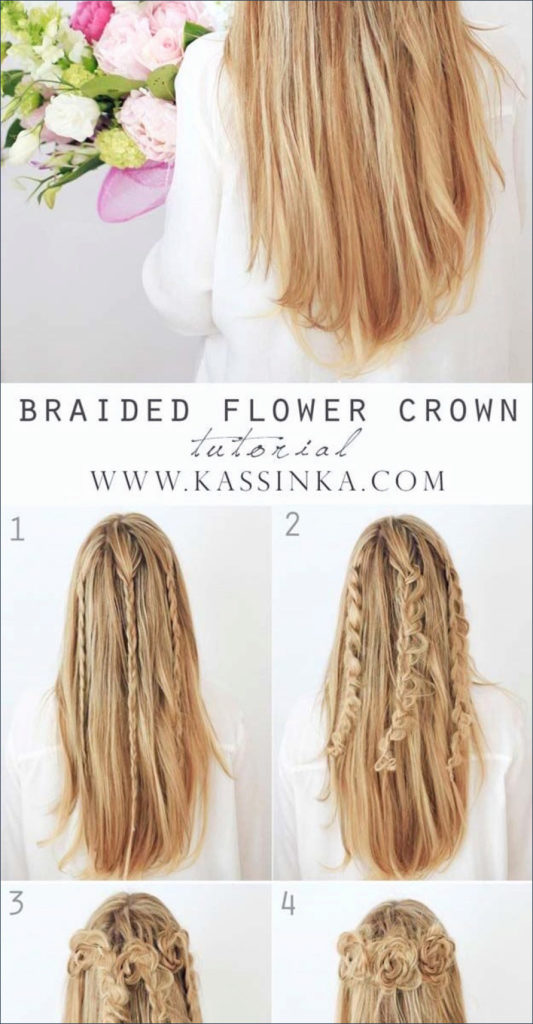 Long braided hairstyles trends 2020 Flower crown 1