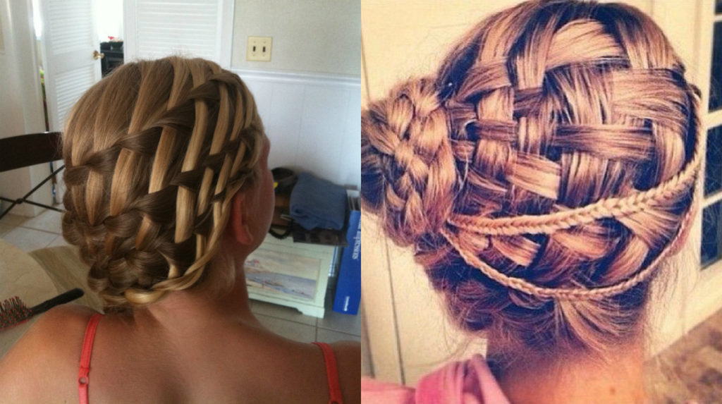 Long braided hairstyles trends 2020 French Braided Updo