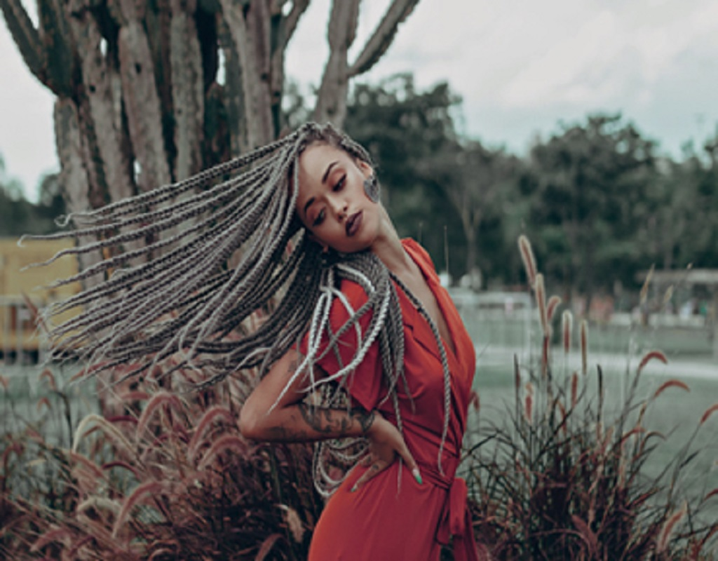 Long braided hairstyles trends 2020 ash blonde canerows braids