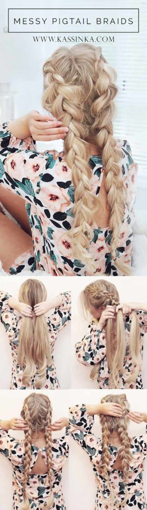 Long braided hairstyles trends 2020 blonde fishtail braid