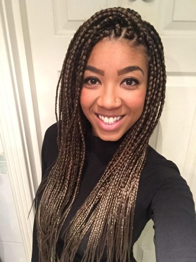 Long braided hairstyles trends 2020 brown tree braid