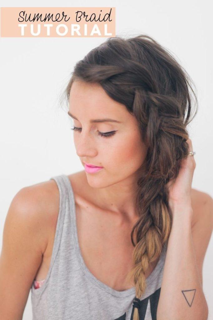 Long braided hairstyles trends 2020 dutch braid
