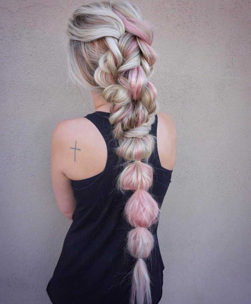 Long braided hairstyles trends 2020 knot braid