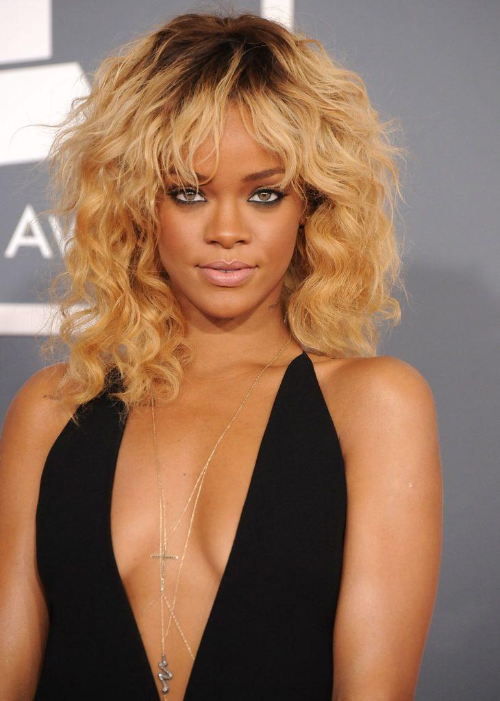 Rihanna Medium Haircut