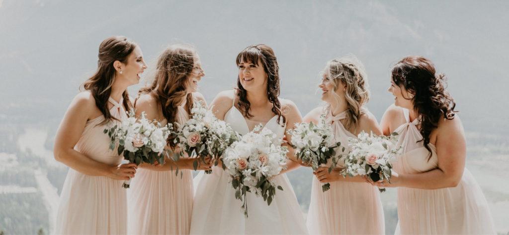 long hair wedding