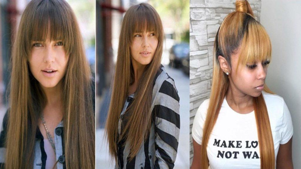 Long women Over 50 ans Haircuts trends 2020 bangs