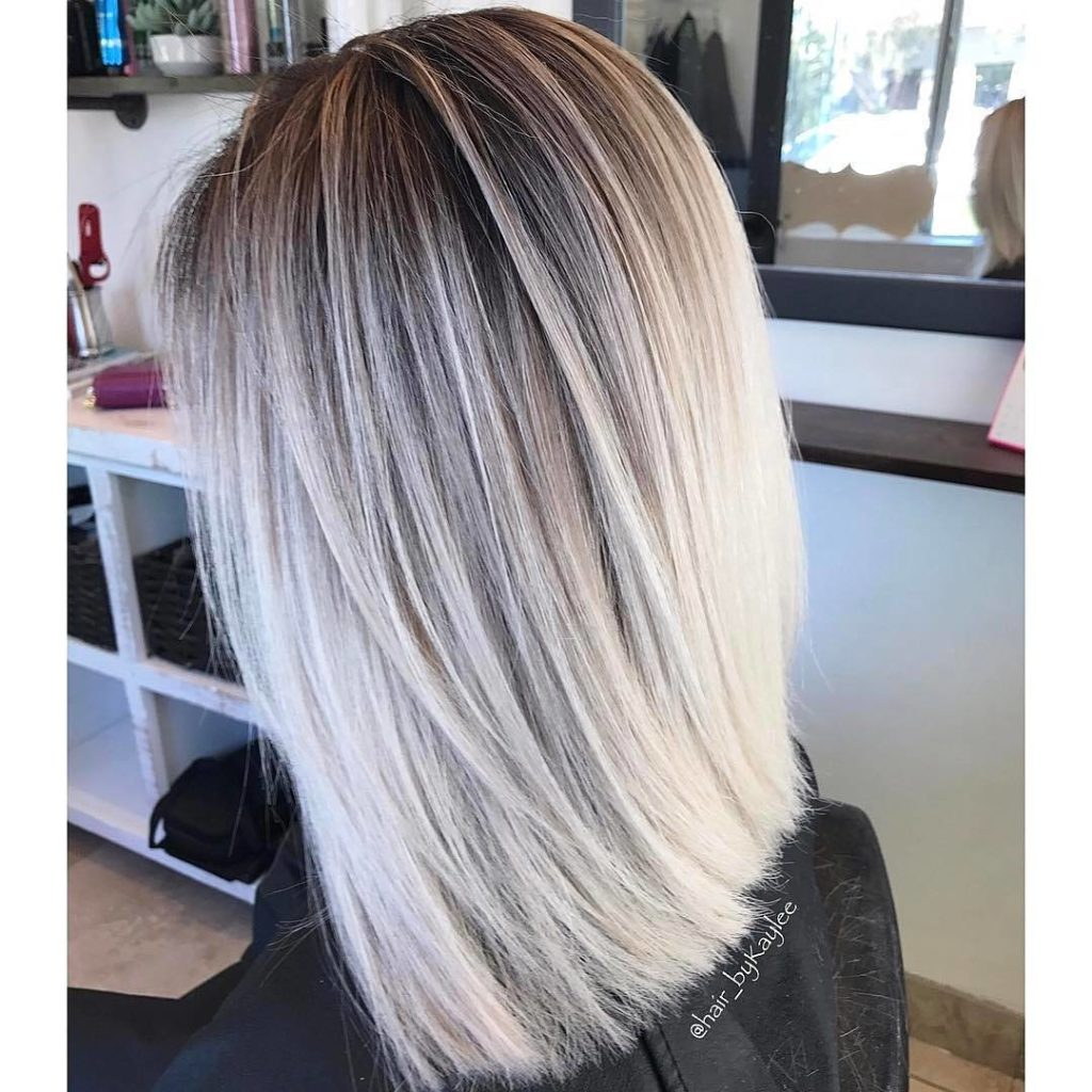 Medium Balayage Hairstyles trends 2020 ash blonde highlights