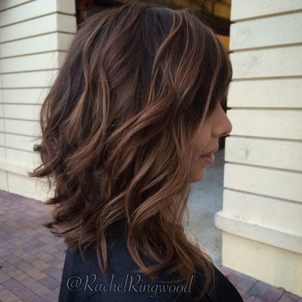 Medium Balayage Hairstyles trends 2020 chocolate color