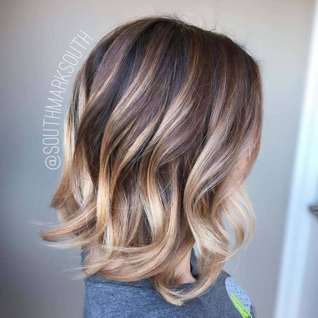 Medium Balayage Hairstyles trends 2020 dark blonde