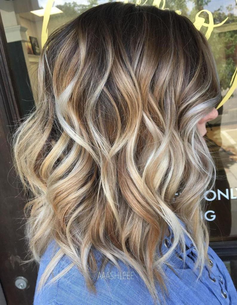 Medium Balayage Hairstyles trends 2020 dark blonde color