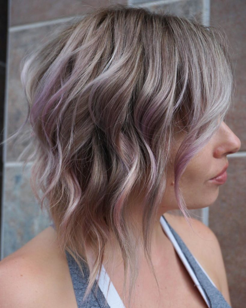 Medium Balayage Hairstyles trends 2020 dusty blonde color