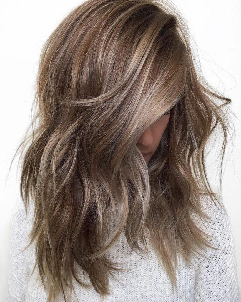 Medium Balayage Hairstyles trends 2020 gray dusty blonde