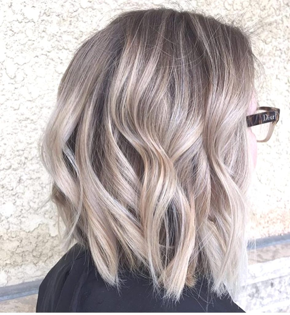 Medium Balayage Hairstyles trends 2020 gray wavy color