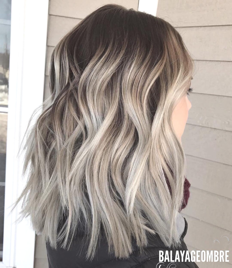 Medium Balayage Hairstyles trends 2020 silver blonde
