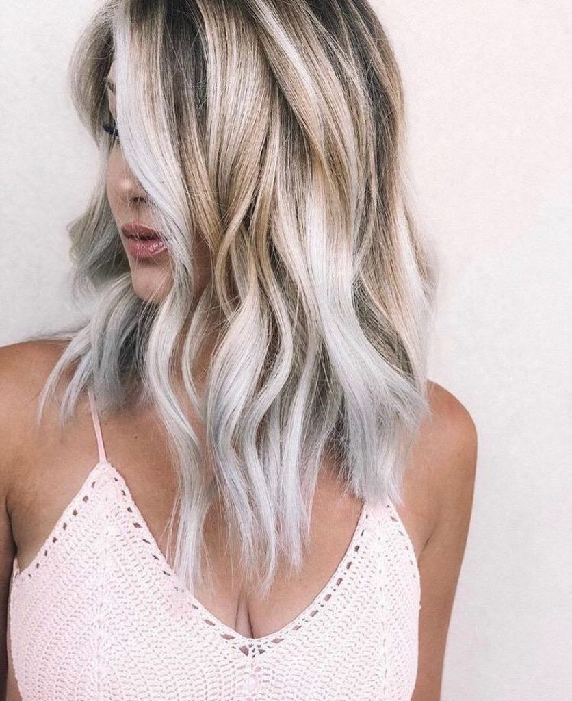 Medium Balayage Hairstyles trends 2020 wavy gray