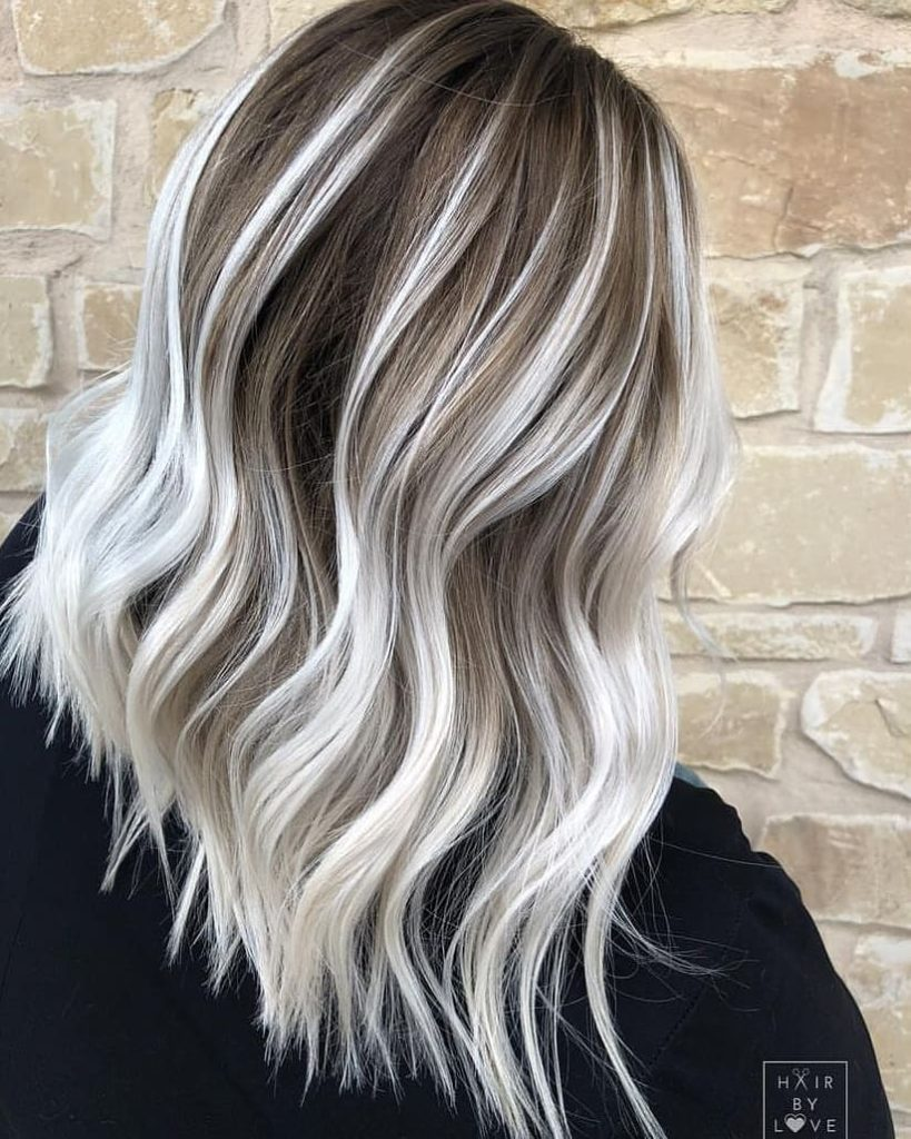 Medium Balayage Hairstyles trends 2020 white gray color