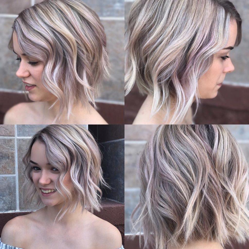 Short Gray wavy Hair