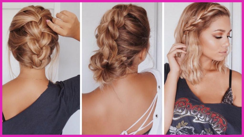 Medium braided hairstyles trends 2020 French braid