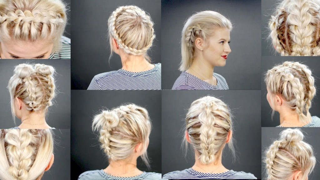 Medium braided hairstyles trends 2020 Tutorial