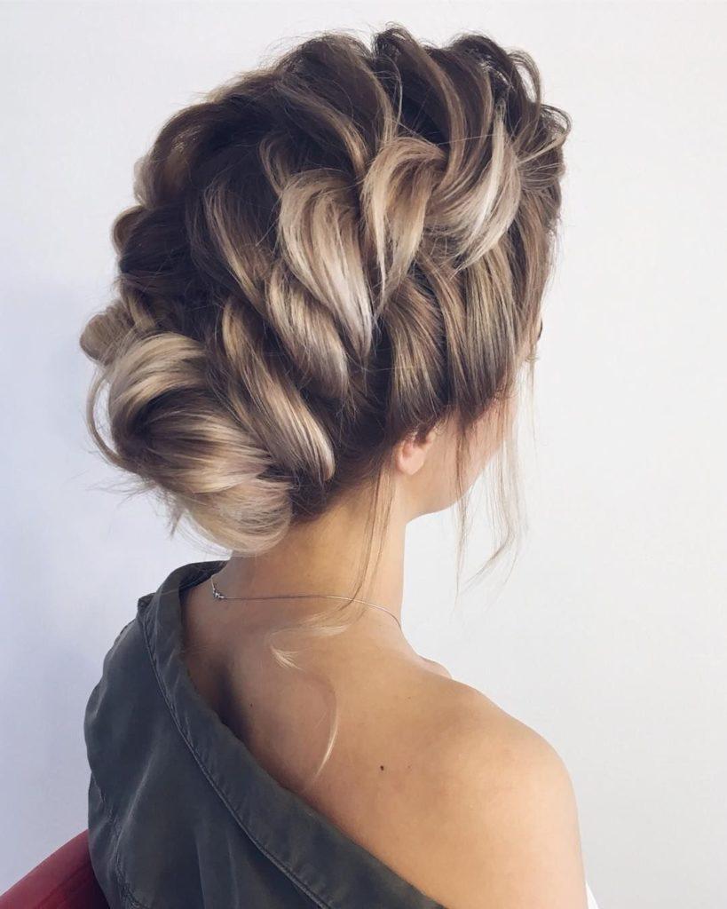 Medium braided hairstyles trends 2020 twist french braid