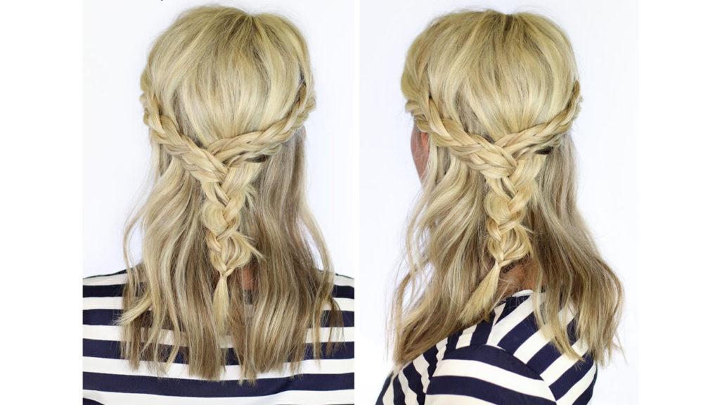 Medium braided hairstyles trends 2020 waterfall fishtail