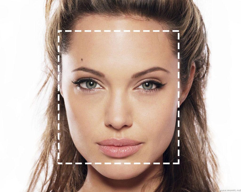 Angelina jolie square face shape haircuts