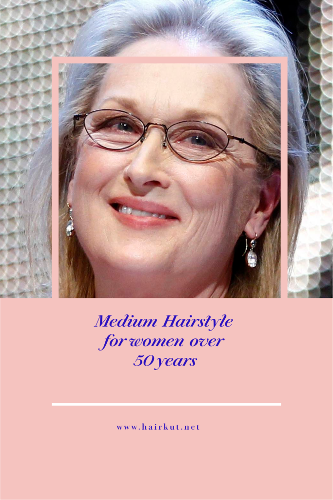 medium hairstyle for women over 50 years