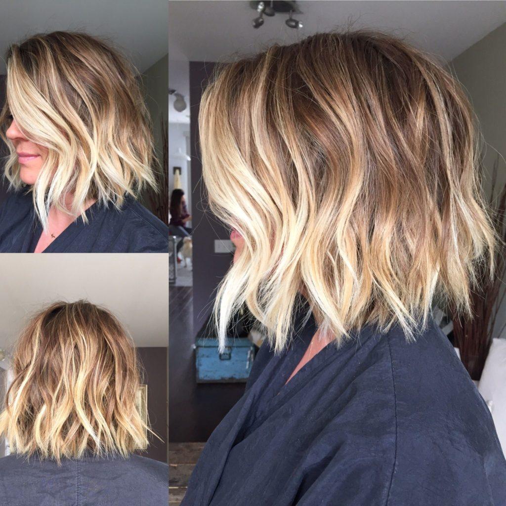 Short Balayage Hairstyles trends 2020 wavy platinum blonde highlights 1