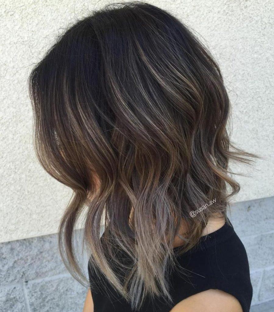 Short Balayage Hairstyles trends 2020 half up half down 1