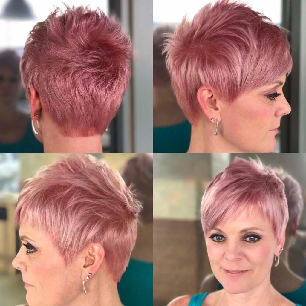 Light Pink pixie with bang