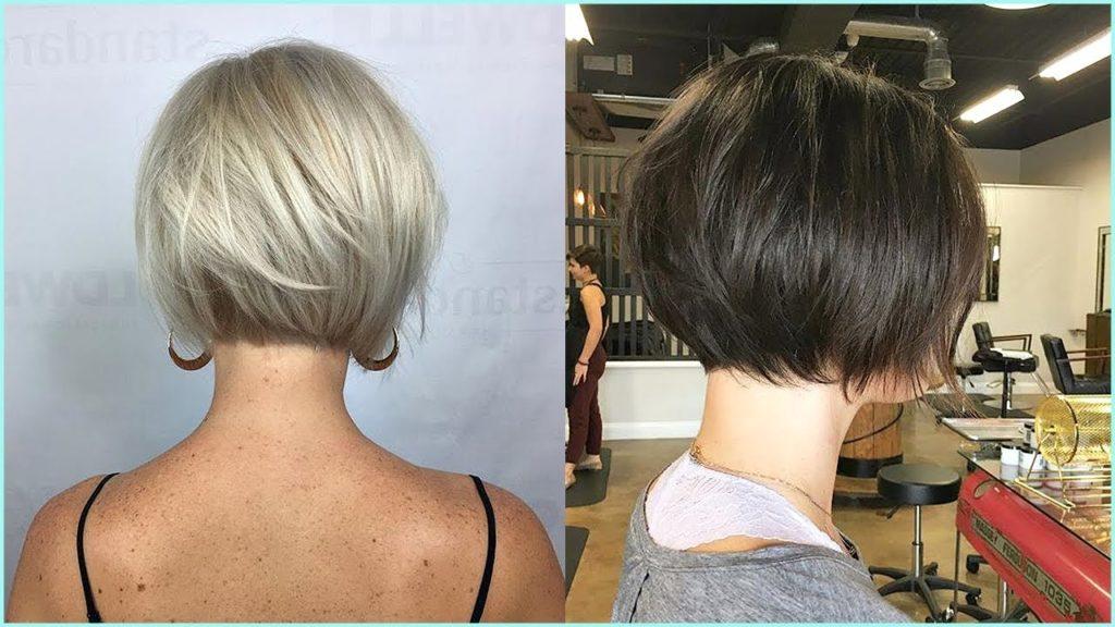 Short Bob Haircuts trends 2020 Black and gray straight bob 4