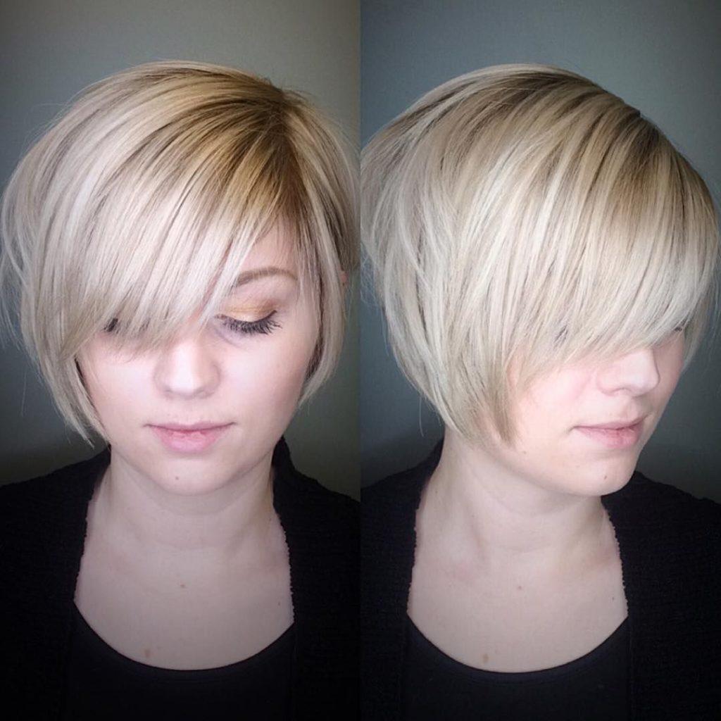 Short Bob Haircuts trends 2020 Blonde bob color straight bob haircut 3