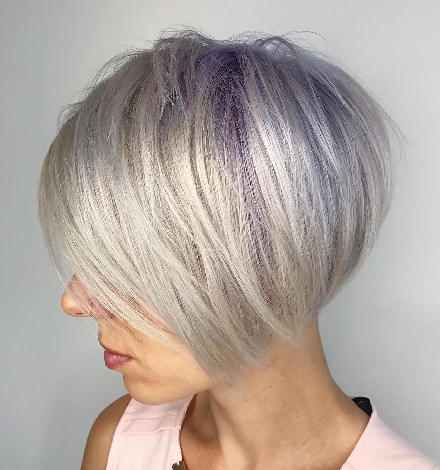 Short Bob Haircuts trends 2020 Gray color straight 3
