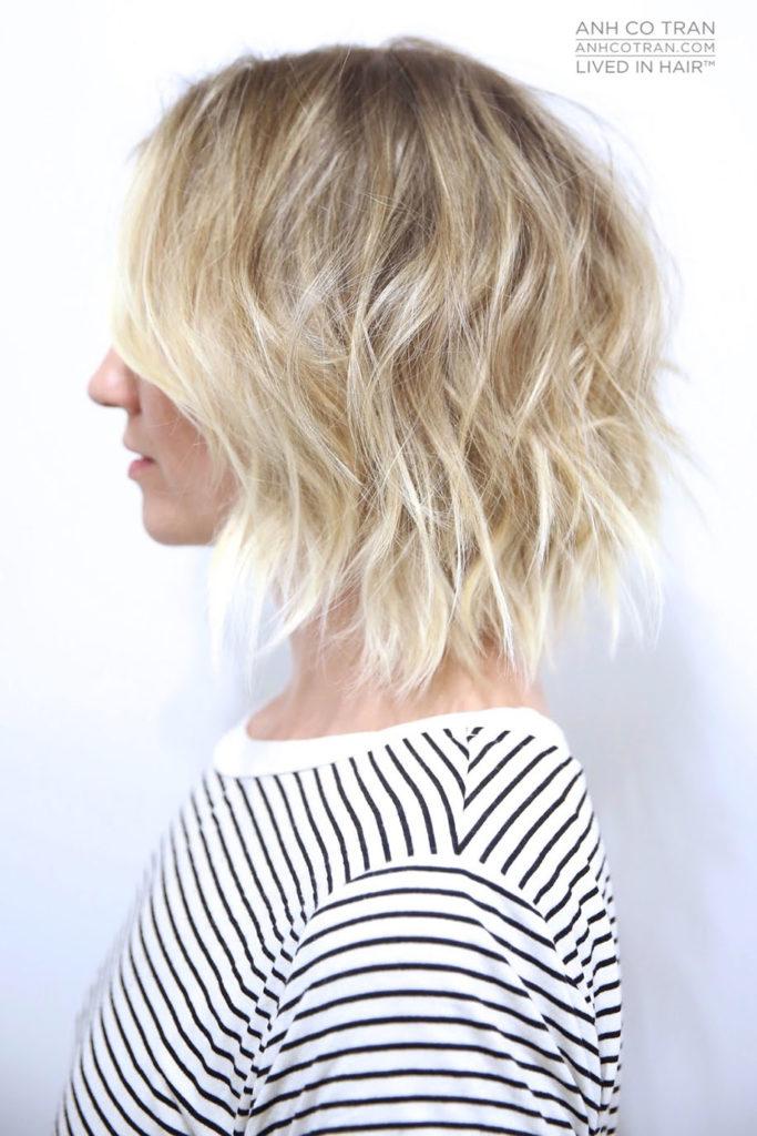 Short Bob Haircuts trends 2020 Wavy Blonde Color 1
