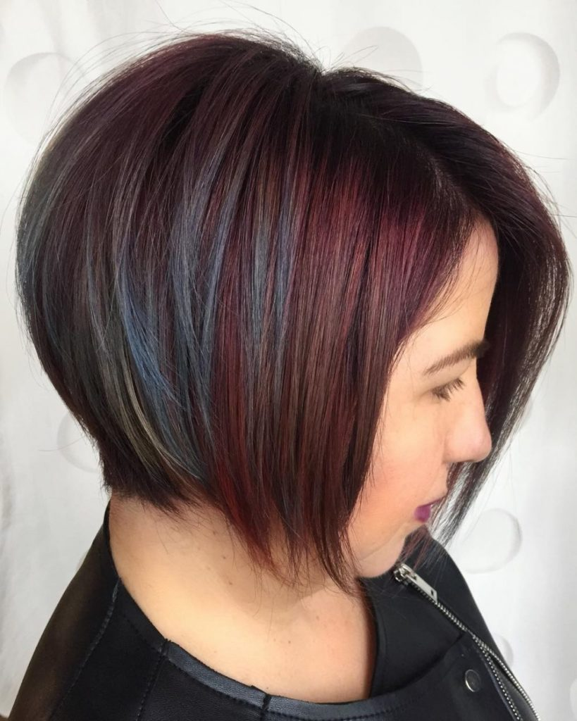 Short Bob Haircuts trends 2020 dark redd balayage 3
