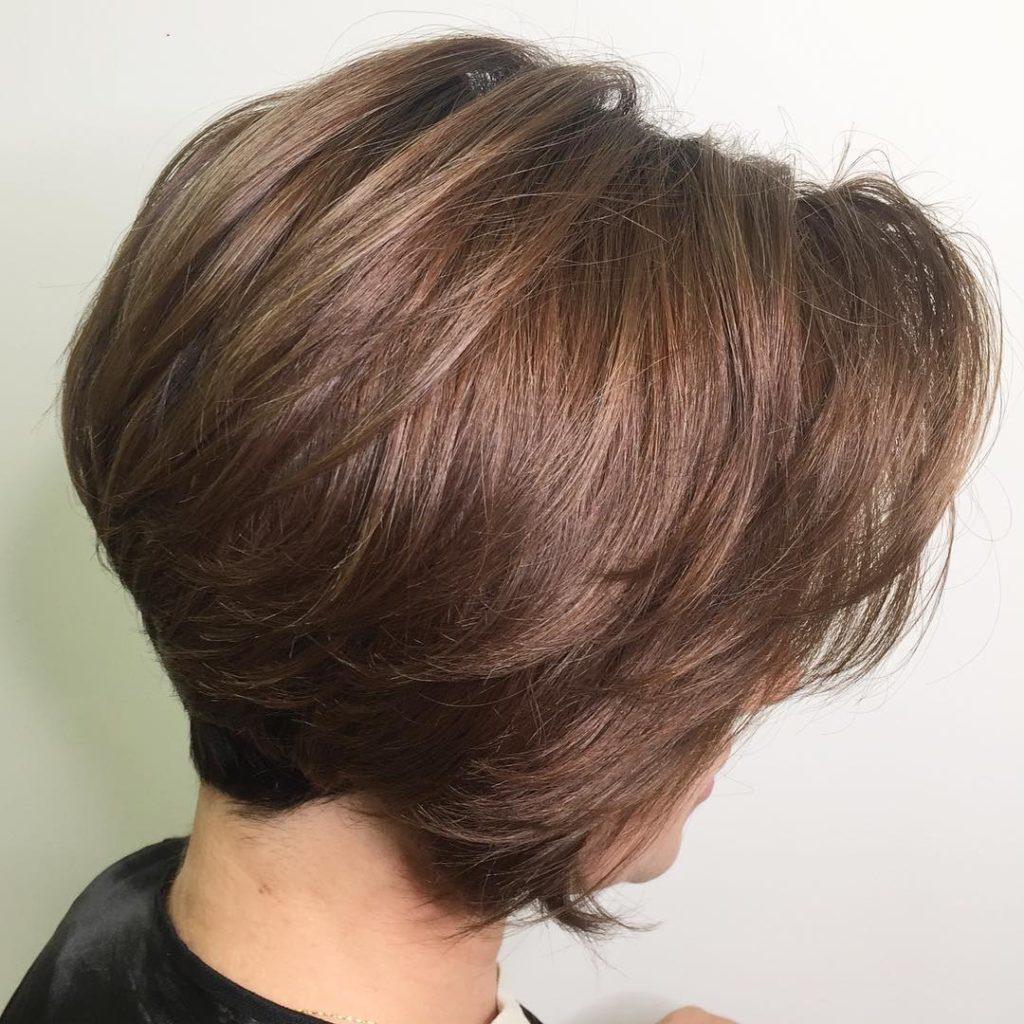 Short Bob Haircuts trends 2020 dusty brown hair 3