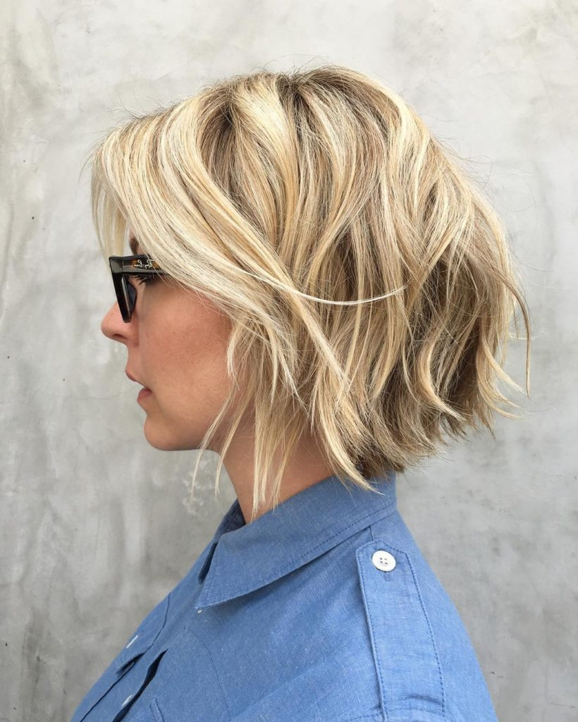 Short Bob Haircuts trends 2020 messy blonde 5
