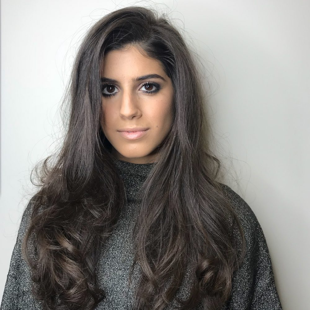 Long Brown hairstyle for square face