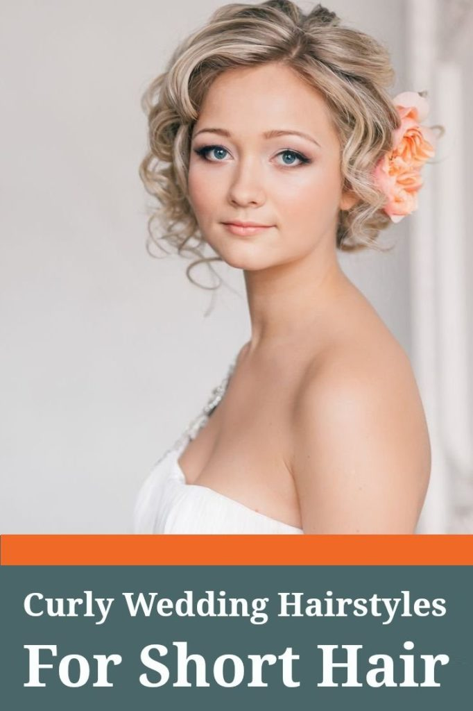 short haircut for wedding with accessorie