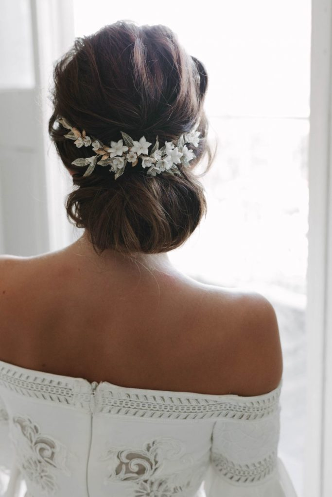 short hair length with accessorie fo wedding for Bridesmaids