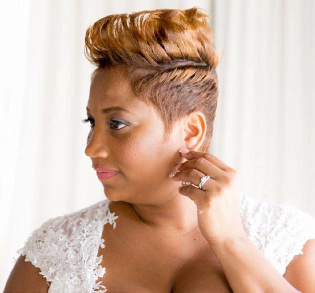 pixie haircut wedding hairstyle