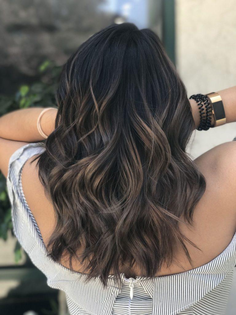 medium Balayage Hairstyles trends 2020 dark brown 1